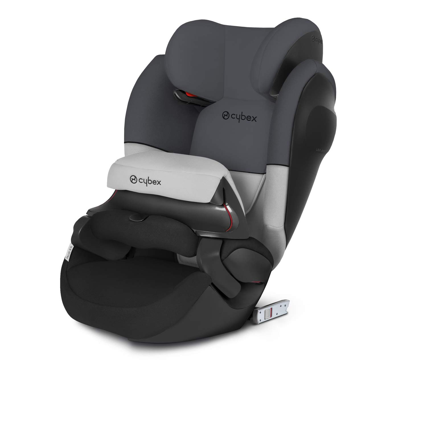Cybex Silver Pallas M-Fix SL, 2-in-1 Child's Car Seat, High Back Booster, Adjustable Impact Safety Shield and ISOFIX Compatible, Group 1/2/3 (9-36 kg), From Approx 9 Months - 12 Years, Gray Rabbit