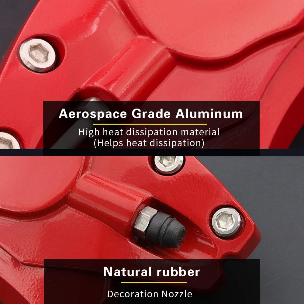 12 Farben 4 Packungen pro Set AOOA Bremssattel Abdeckungen Bremssattel Abdeckung aus Aluminiumlegierung