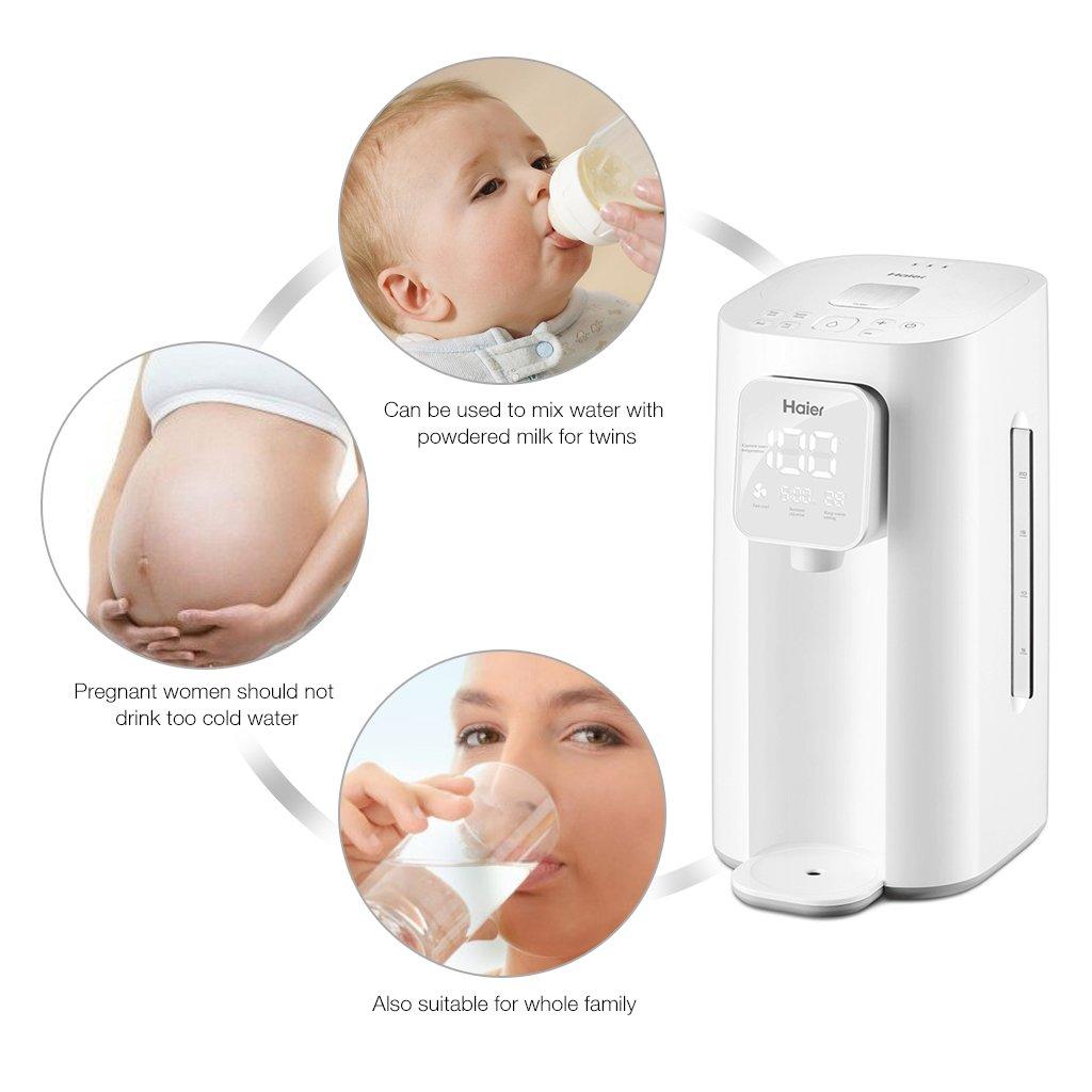 Haier hbm-f25 Calientabiberones inteligente de leche Termostato Calentador automático bollire Agua, Mantener caliente, Enfriar loro: Amazon.es: Hogar