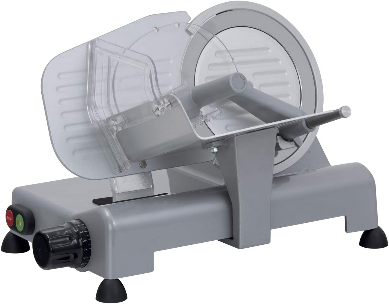 RGV Lusso 195 GL - Cortadora de fiambres, plata, diámetro 19.5 cm