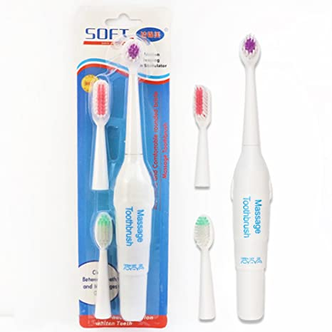 Reemplazo Eléctrico Del Cepillo De Dientes Del Cuidado Oral Con 3 Cepillos De Dientes, Colores