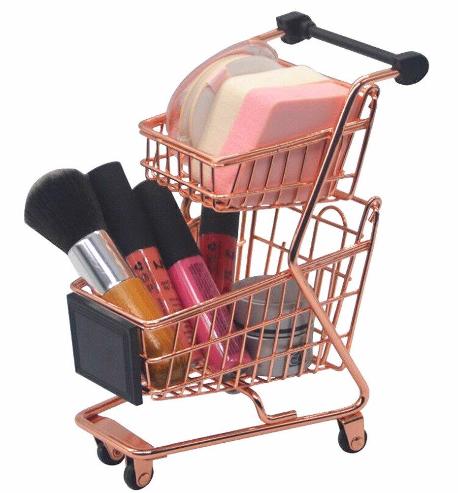 FLYMEI Makeup Organizer Cosmetic Storage Makeup Sponge Holder Beauty Makeup Sponge Blender Holder Drying Rack Powder Puff Display Stand, Rose Gold