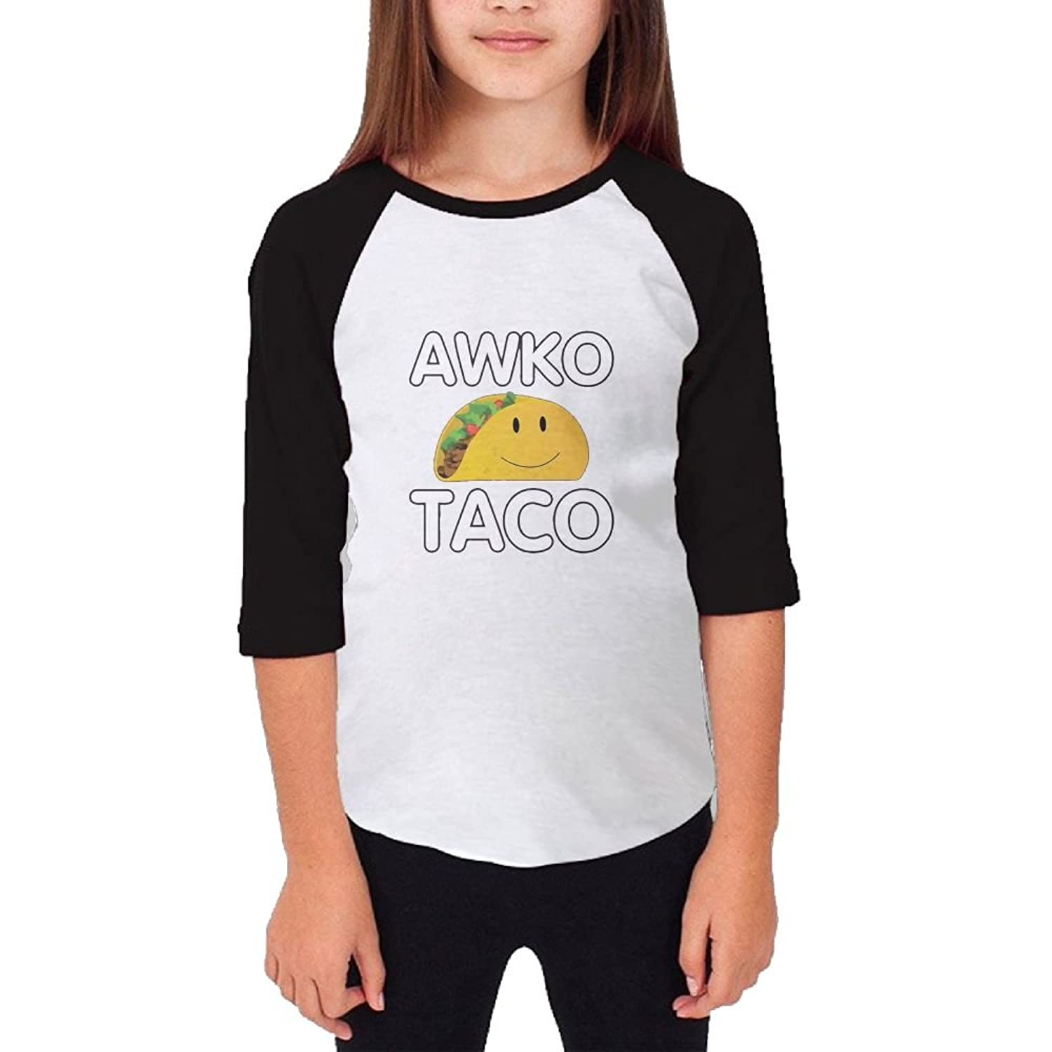 010bce431 Jidfnjg Awko Taco RD Kids 3/4 Sleeves Raglan T Shirts Child Youth Slim Fit