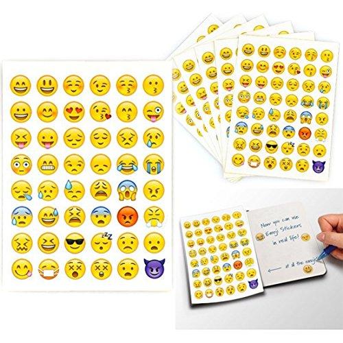 2 Sheet 96 Die Cut Charming Random Emoji Stickers Smile Face Button Home Creative Cartoon Cellphone Ihome Iphone Phone Plus Touch Replacement Sticker Kids Kit Piece Set Cute Color Decor - Sports Jobs Dallas