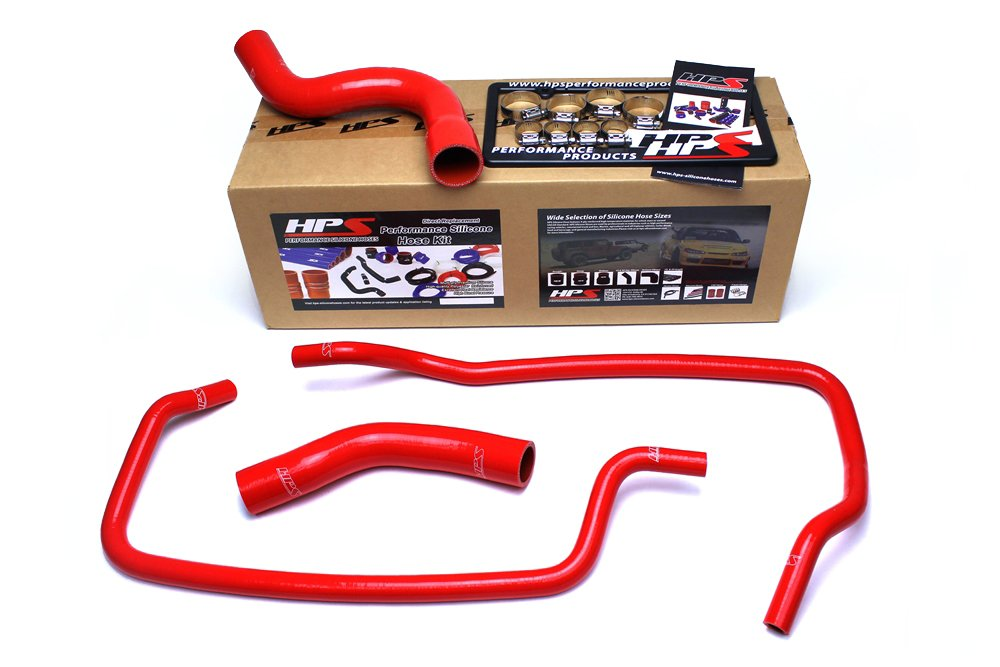 HPS 57-1608-BLK Black Silicone Radiator and Heater Hose Kit Coolant 1 Pack