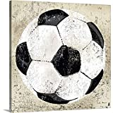 Peter Horjus Premium Thick-Wrap Canvas Wall Art Print entitled Vintage Soccer Ball 20''x20''