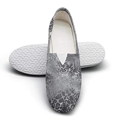 43e465e8abfe1 Leopard Cheetah Print Snakeskin Pattern Retro Gray Womens Crazy Sneakers  Shoes Low Top Trendy