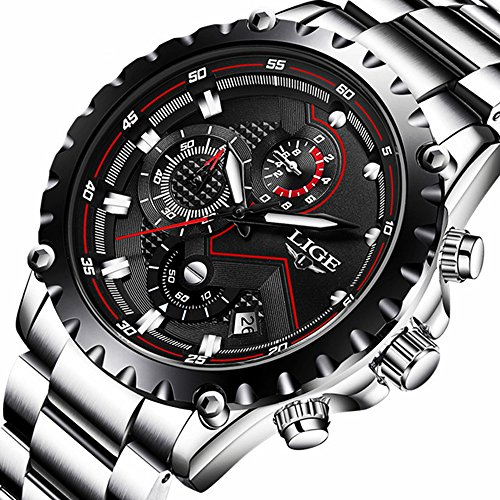 Watch Men Fashion Sport Quartz Clock Mens Watches Top Brand Luxury Full Steel Business Waterproof Watch - Luxury Brands Women's