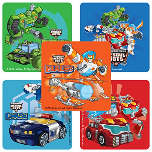 (SmileMakers Transformers Rescue Bots Stickers - Birthday and Theme Party Supplies - 100 Per)