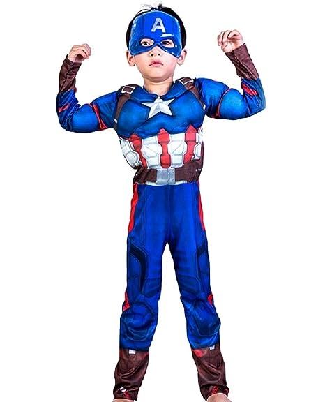 Lovelegis Disfraz de Capitán América para niños - superhéroe ...