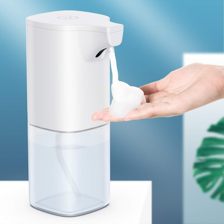 Wasserdicht automatischer Seifenspender Set mit Sensor Infrarot Elektrischer Seifenspender USB-Aufladung OTTC Seifenspender Automatisch Elektrischer Sch/äumende