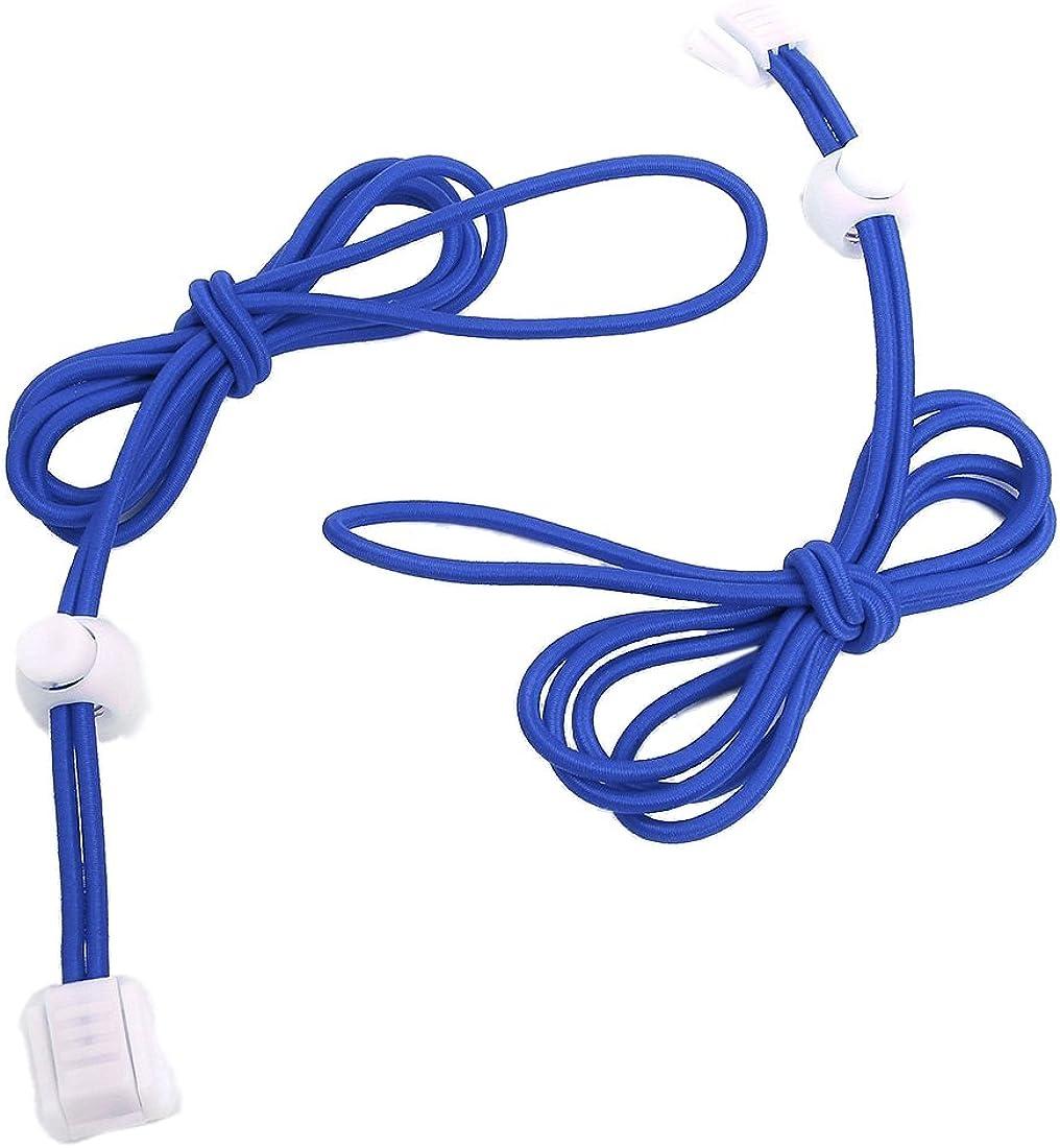 Noir SODIAL Une paire de lacets elastiques et lacet en plastique 120 cm
