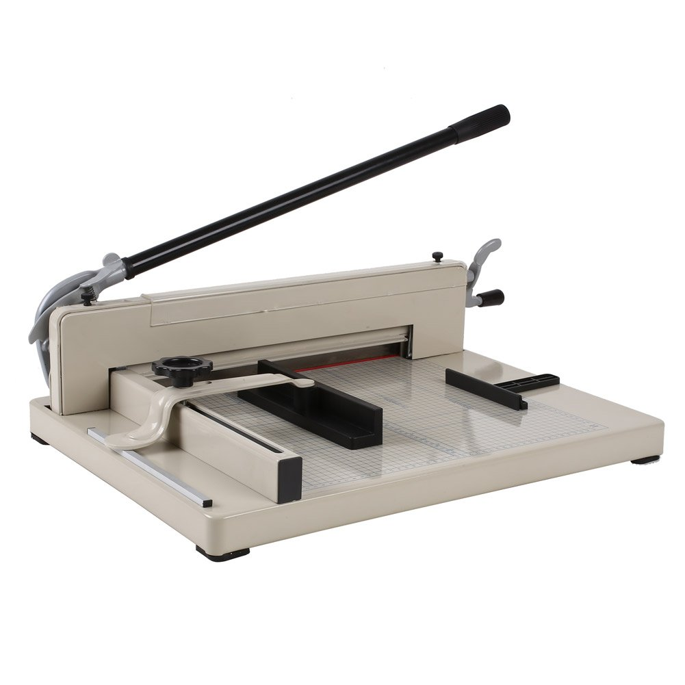 Amzdeal ® 17'' Steel Heavy Duty Manual Guillotine Paper Cutter Trimmer Machine White w/ Inches Ruler Capacity 400 Sheets A3 for Office Commercial Photocopy Printing Shop by Amzdeal (Image #5)