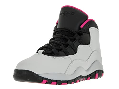 new concept edfbd 561b3 Amazon.com: Girls Air Jordan 10 X Retro PS Vivid Pink Pure ...