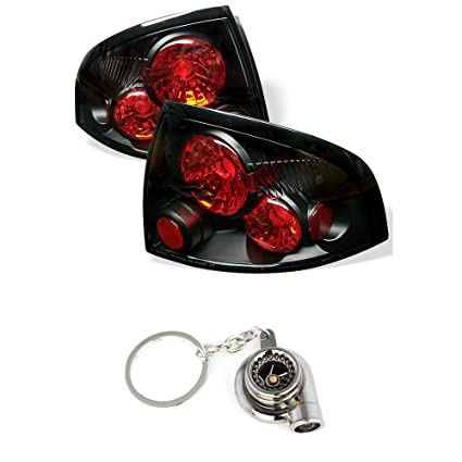 Amazon.com: Nissan Sentra Euro Style Tail Lights Black Housing With Clear Lens+Free Gift Key Chain Spinning Turbo Bearing: Automotive