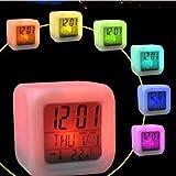 STRIR Despertador Reloj Digital con Alarma Luz Nocturna Lámpara Brillante LED con 7 colores…