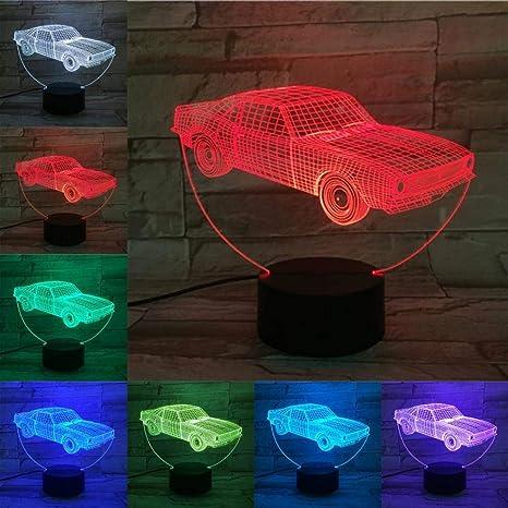 BYSQX 3D Led Night Light Optical Illusion Lamp-Car 16 ...