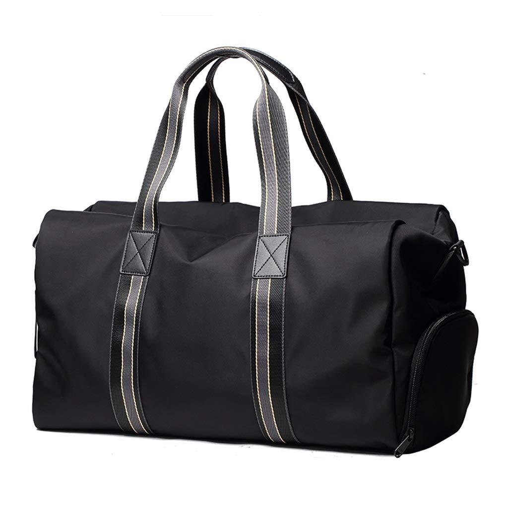 WANGXIAOLINYUNDONGBAO 旅行かばん、携帯用、多機能、フィットネスバッグ、短距離用バッグ、スポーツ用バッグ、黒、46 * 22 * 28 cm B07P5YM7KP