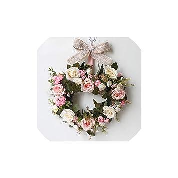 Amazon Com Simulation Diy Artificial Flower Garland Wreath