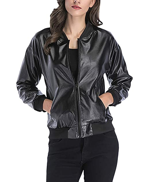 reputable site cd5cb 0e794 Giacca di Pelle Donna Eleganti Vintage Fashion Biker Jacket ...