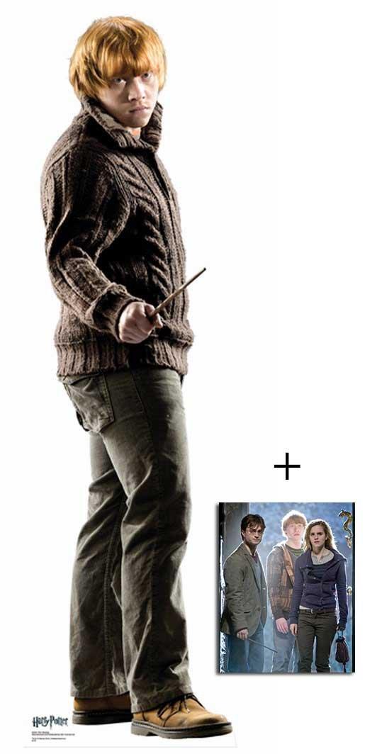 Fan Pack - Ron Weasley from Harry Potter Lifesize Cardboard Cutout (Standee / Standup) Rupert Grint - Includes 8X10 (25X20Cm) Star Photo BundleZ-4-FanZ Fan Packs