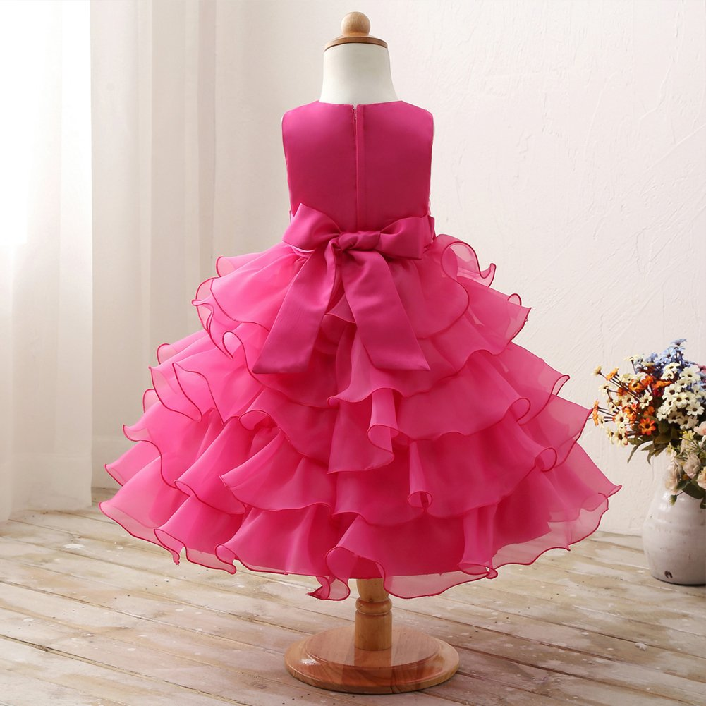 Ed vestido de vestidos Púrpura niña niños sin encaje mangas volantes ...