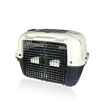 DI ZE LIN PET HOME S.L DZL Transportín para Llevar Dos Perros Pequeños con Separador, Ruedas, comederos 88 * 56 * 65cm Caja de Aviones Perros: Amazon.es: ...