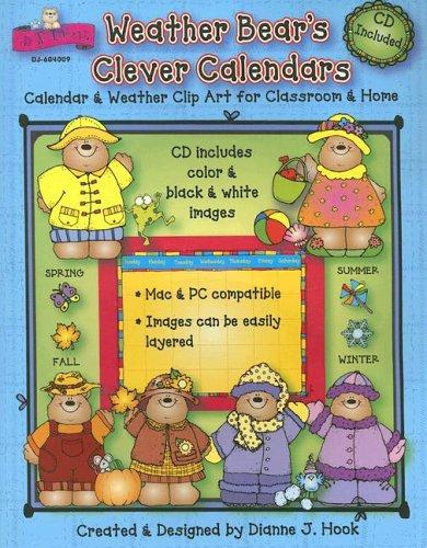 Carson Dellosa Clipart - Weather Bear's Clever Calendars: Calendar & Weather Clip Art for Classroom & Home