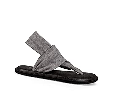 20b6259d439be2 Sanuk Girls  Kids Yoga Sling Bling Sandal Silver 9 10   Cleaning Stick  Bundle