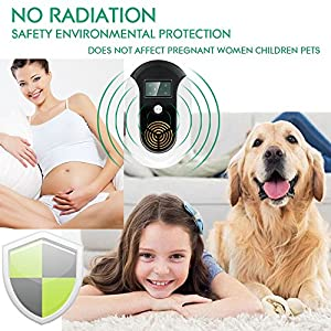 Ssmod Ultrasonic Electromagnetic Pest Repeller,Electronic Control Bug Repellent Plug in indoor Get Rid of Mosquito,Mice,Cockroach,Ants,Housefly,Reject Other Insect & Rodent[2018 New product]