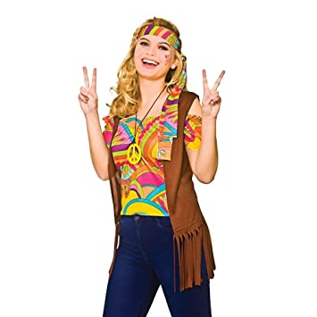 Adulto Mujer Cool Hippie Set Halloween / Carnaval Traje de ...