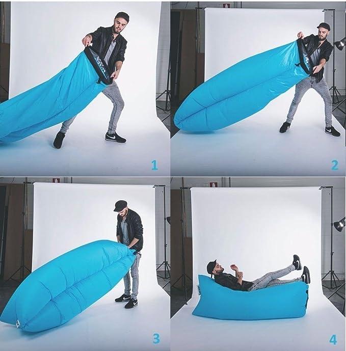 Dormir hinchable Bag hangout Air Sofás camping Saco de dormir playa ...