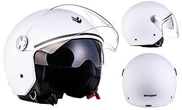 """Armor · AV-63 """"Matt White"""" (white) · Casco moto Demi"""