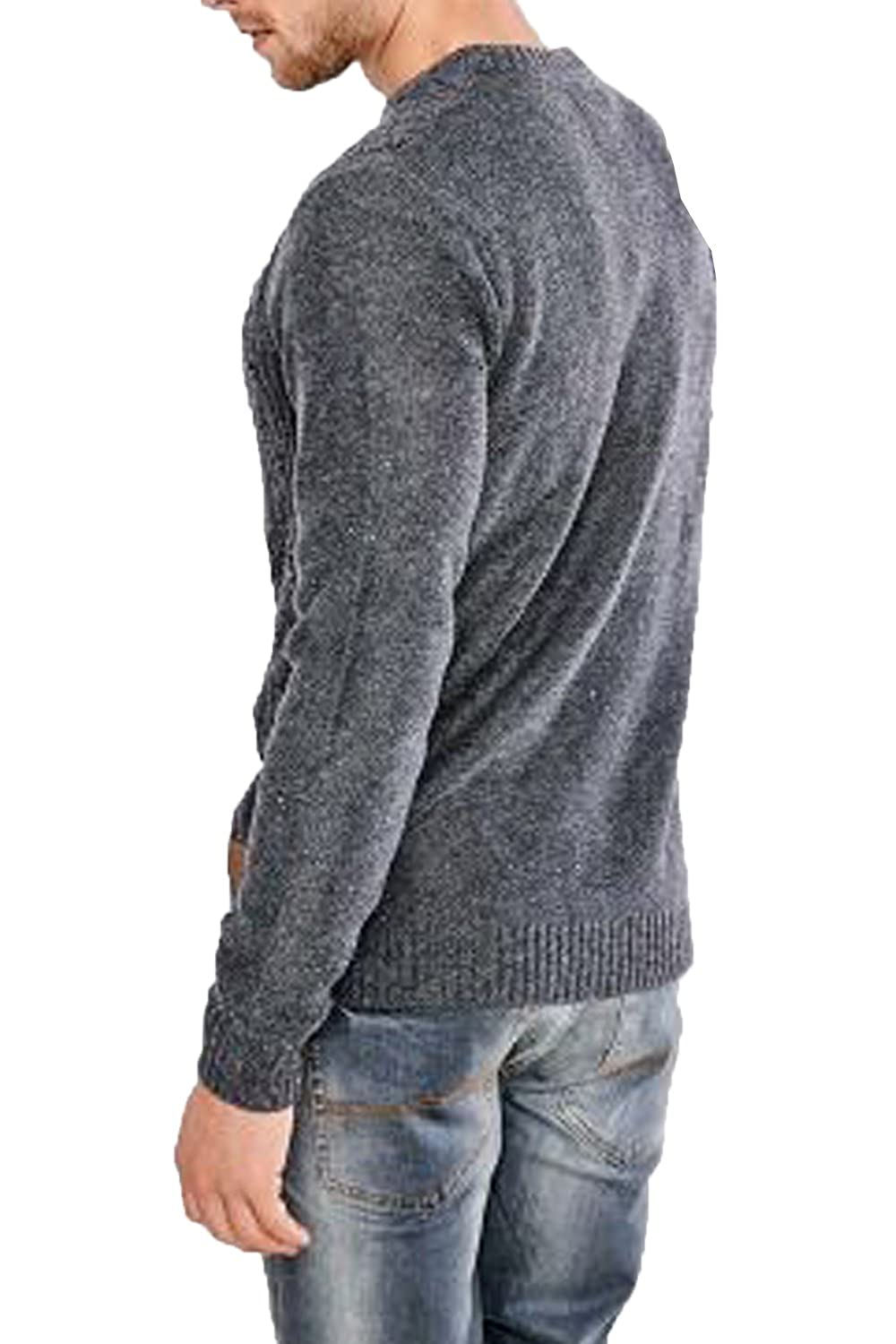 67662afaad89b9 Threadbare Talbot Mens Classic Cable Crew Neckline Sweater Soft Warm  Pullover Top: Amazon.co.uk: Clothing