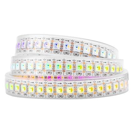 BTF-LIGHTING RGBW RGBWW Warm White SK6812 (Similar WS2812B) 3 3ft 1m  144leds/pixels/m Individually Addressable Flexible 4 Color in 1 LED Dream  Color