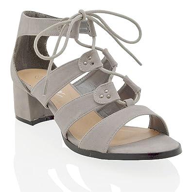 fb93e3fe3e91 ESSEX GLAM Women s Es-1 Fashion Sandals grey Size  7  Amazon.co.uk  Shoes    Bags