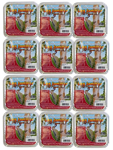 (12 Packs of Pine Tree Farms Log Jammer Hot Pepper Suet- 3 Plugs Per Pack)