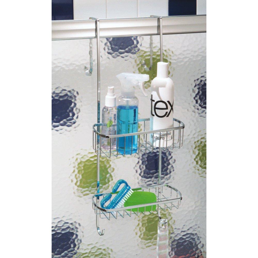 Amazon.com: InterDesign Gia Bathroom Over Shower Door Caddy for ...