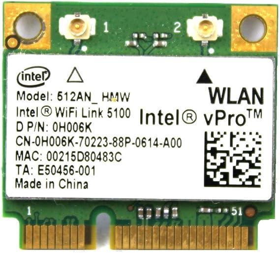 For Dell 512AN/_HMW Intel WiFi Link 5100 MINI PCI-E Card Wireless N Card 0H006K