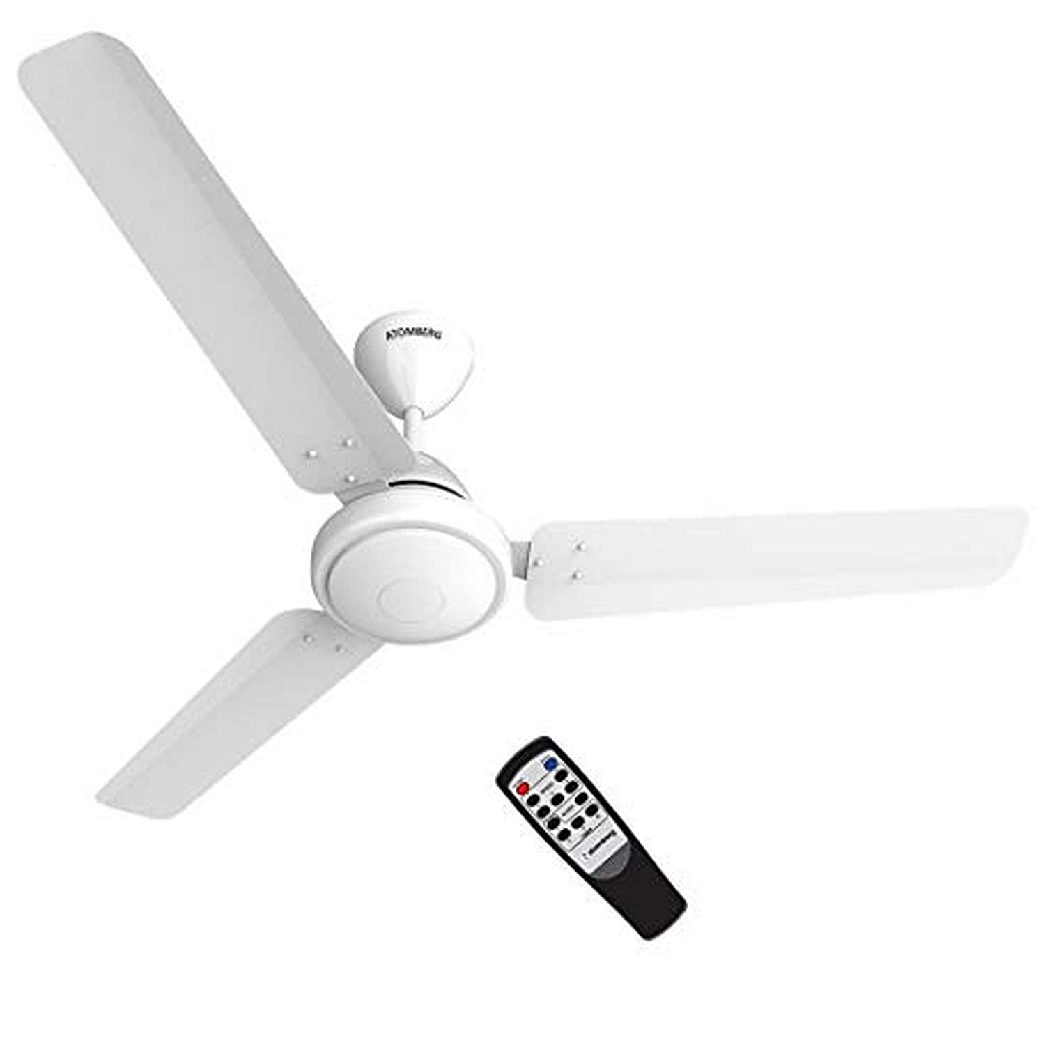 Atomberg Efficio 1200 Mm Bldc Motor With Remote 3 Blade Ceiling Fan White Pack Of 1 Amazon In Home Improvement