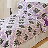 5-Piece Bed-In-A-Bag – Twin XL Extra Long (Comforter Set: Ferrara, Sheet Set: Lavender)