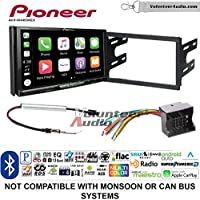 Volunteer Audio Pioneer AVH-W4400NEX Double Din Radio Install Kit with Wireless Apple CarPlay, Android Auto, Bluetooth Fits 2003-2005 Volkswagen Golf, Jetta, Passat