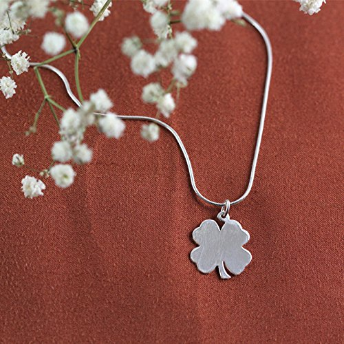 Center Gifts Engravable Shamrock Pendant with Baby Snake Chain Necklace - Personalize It with the Name For You or Your Loved Once - Best Personalized Gift Idea