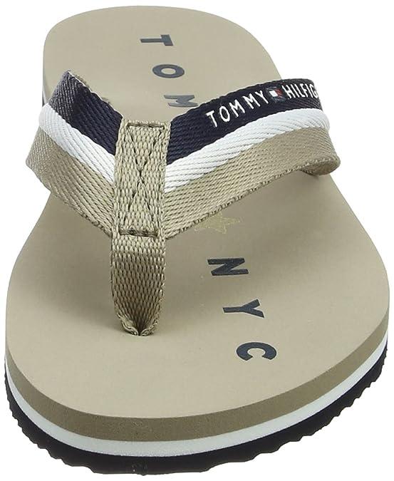 Tommy Hilfiger Damen Flexible Essential Beach Sandal Zehentrenner, Beige (Cobblestone 068), 36 EU