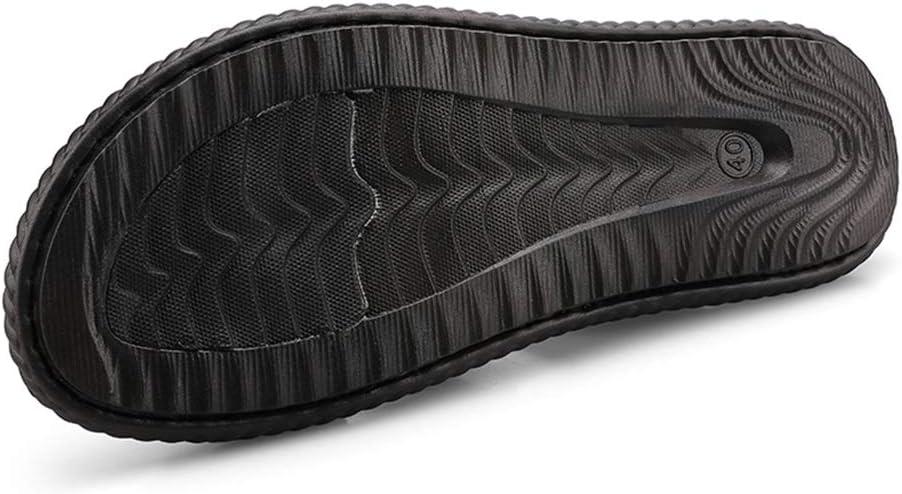 Color : Blue, Size : 9 M US Hishoes Sandals for Men Fashion Slipper Shoes Slip On Style Microfiber Leather Metaldecor Dual Purpose Anti-Slip