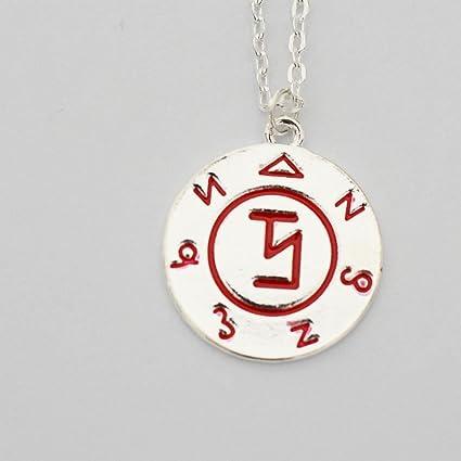 Amazon com: Supernatural Angel Banishing Sigil Pendant Necklace