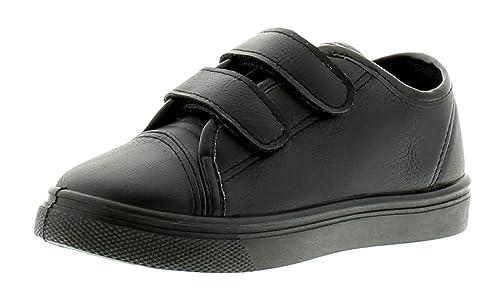 Rockstorm Albert para Niños Zapatos De Colegio Negro Negro