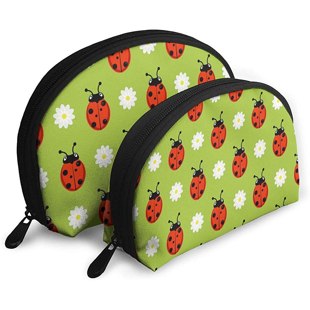 Spring Ladybug WomenTravel Cosmetic Bags Impermeable Tela ...