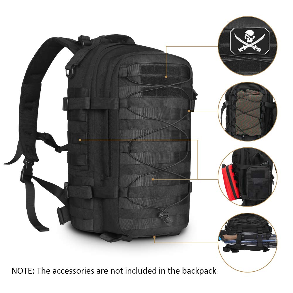 AIRSOFTPEAK Tactical Backpack Military Assault Pack Army Molle Bug Out Bag 1000D Nylon Daypack for Camping Hiking Travel by AIRSOFTPEAK (Image #2)