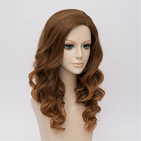 LanTing Cosplay Peluca Harry Potter Hermione Granger Brown Long Clip Cosplay Party Fashion Anime Human Costume Full wigs Synthetic Cabello Heat Resistant ...